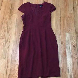 H&M Sleeveless Dress Burgundy Color Size 8!